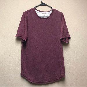 [PacSun On the Byas] Maroon Longer Length T-shirt